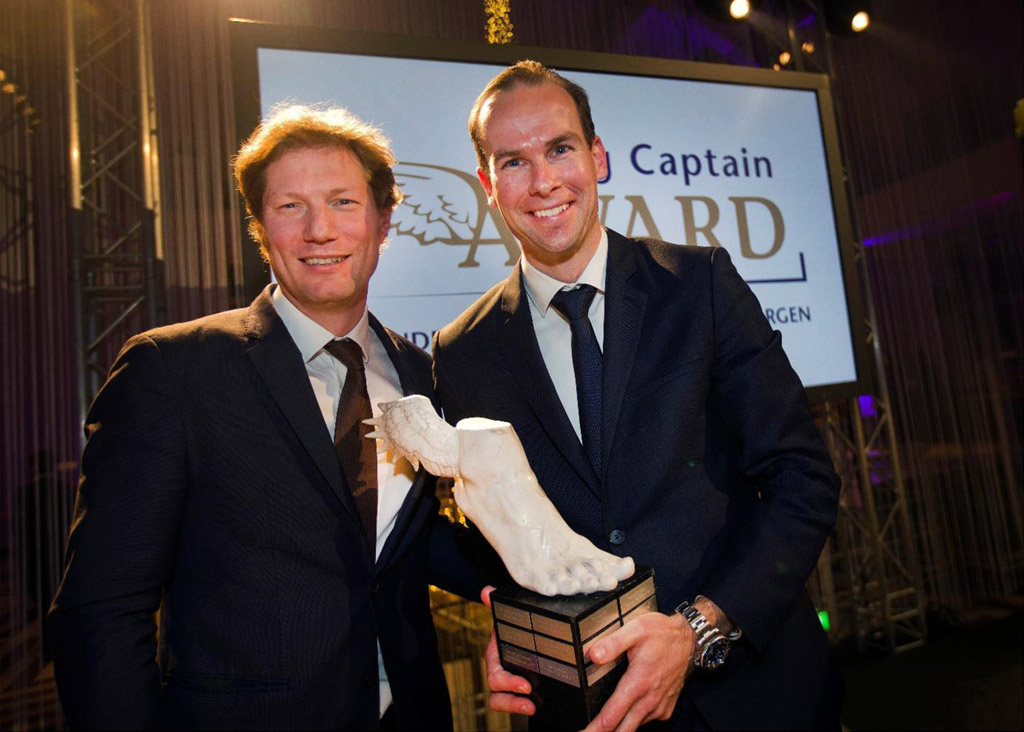 Rogier Smeets  winner of the  Young Captain Award 2018